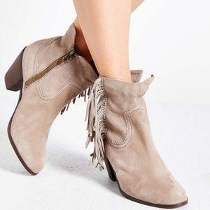 Sam Edelman Louie Ankle Fringe Boots 9.5 M